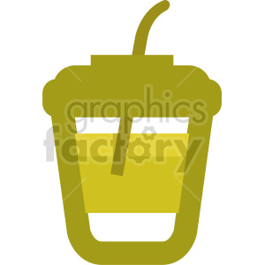 cartoon drink with straw vector clipart clipart. Commercial use image # 415156