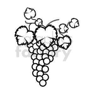 grapes vector graphic 07 clipart. Commercial use image # 415173