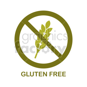 gluten free symbol vector graphic 03 clipart. Commercial use image # 415208