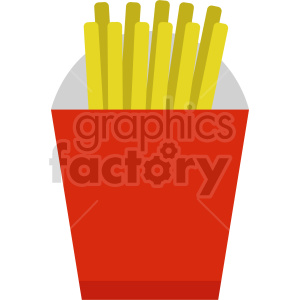 fast food french fries vector clipart. Commercial use image # 415214