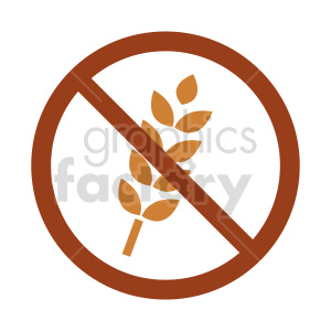 gluten free symbol vector graphic 04 clipart. Commercial use image # 415218