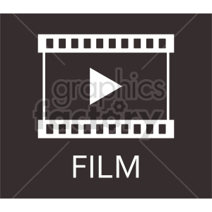 film strip play icon clipart. Commercial use image # 415224