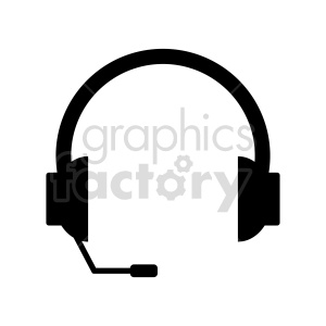 headphones with microphone vector clipart. Commercial use image # 415225