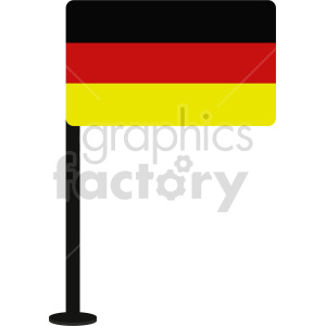clipart - flag of Germany vector clipart icon 06.