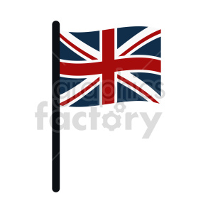 Union Jack Flag of United Kingdom vector clipart 05 clipart. Commercial use image # 415403