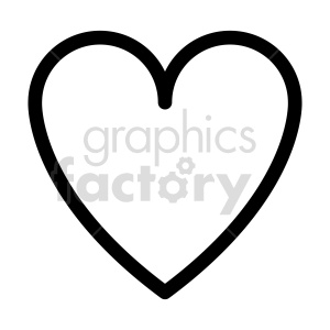 heart outline vector clipart clipart. Commercial use image # 415457