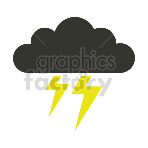 lightning cloud vector graphic clipart. Commercial use image # 415534