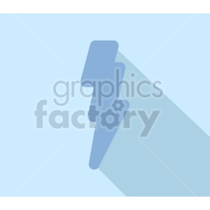 lightning bolt on blue icon vector clipart clipart. Commercial use image # 415542