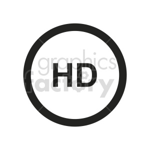 hd symbol icon vector clipart clipart. Commercial use image # 415543