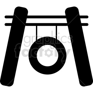 gong silhouette vector design clipart. Commercial use image # 415562