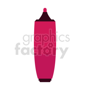 clipart - pink highlighter marker vector clipart.