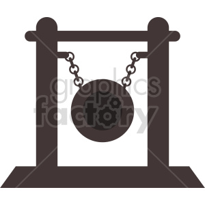gong vector clipart clipart. Commercial use image # 415594
