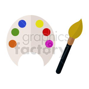paint brush vector clipart clipart. Commercial use image # 415613