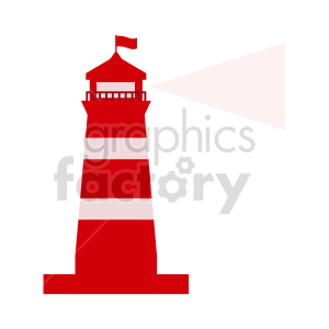 red lighthouse vector icon clipart. Commercial use image # 415627