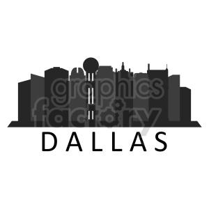 clipart - Dallas city skyline vector clipart.