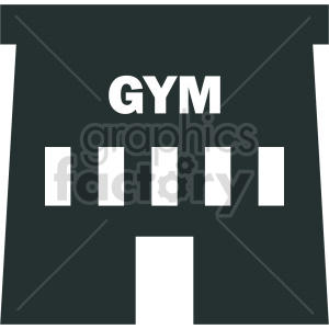 gym building vector symbol clipart. Commercial use image # 415652