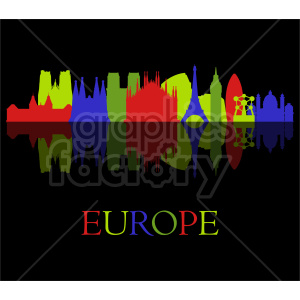 Europe building skyline vector design clipart. Commercial use image # 415667