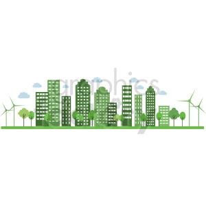 eco friendly city illustration no background royalty free vector clipart. Commercial use image # 415697