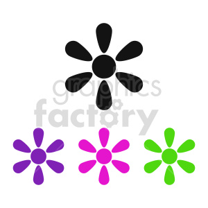 clipart - flower set vector design 2.