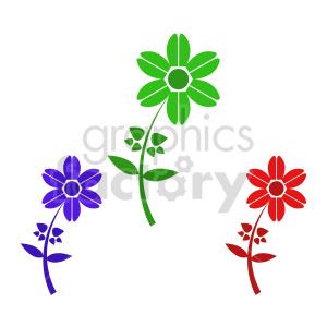 flower bundle vector design 3 clipart. Commercial use image # 415833