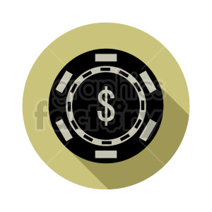 poker chip vector clipart 05 clipart. Commercial use image # 415844