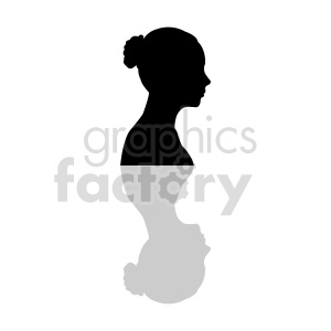 silhouette profile of womans head vector clipart. Commercial use image # 415853