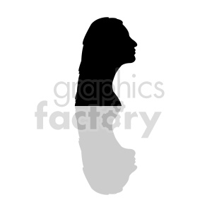 silhouette profile womans head clipart clipart. Commercial use image # 415854
