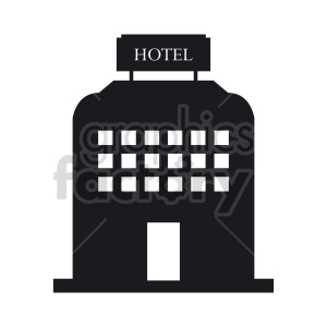 hotel vector clipart clipart. Commercial use image # 415898