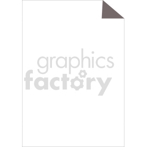 blank paper vector clipart clipart. Commercial use image # 415902