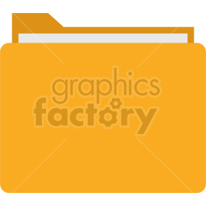folder vector flat icon clipart. Commercial use image # 415903