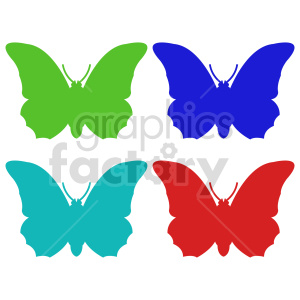 clipart - butterfly silhouette vector clipart 05_1.