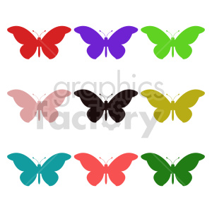 butterfly silhouette vector clipart 06_1 clipart. Commercial use image # 415939