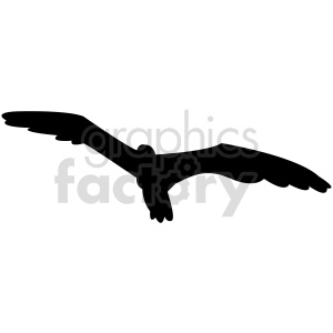 bird soaring silhouette vector clipart. Commercial use image # 415954