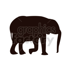 elephant vector outline clipart. Commercial use image # 415961