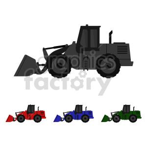 excavators bundle vector graphic clipart. Commercial use image # 416029