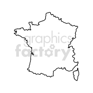 france outline vector clipart clipart. Commercial use image # 416049