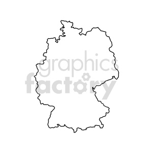 germany outline vector clipart clipart. Commercial use image # 416062