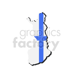 finland flag design vector graphic clipart. Commercial use image # 416109