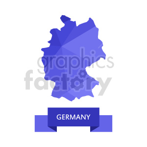 clipart - germany purple vector clipart.