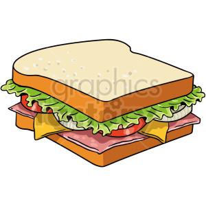 sandwich vector clipart clipart. Commercial use image # 416147