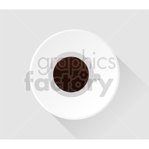 coffee cup on plate vector clipart clipart. Commercial use image # 416203