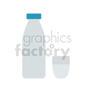 milk bottle and cup vector clipart clipart. Commercial use image # 416220