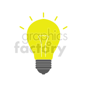 lightbulb vector clipart clipart. Commercial use image # 416269