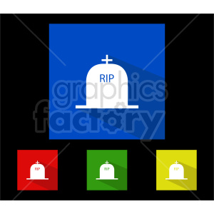 rip tombstone vector icon bundle clipart. Commercial use image # 416350