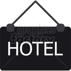 hotel sign vector icon