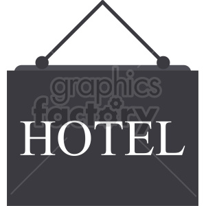hanging hotel sign vector icon clipart. Commercial use image # 416369