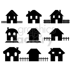 house bundle vector graphics clipart. Commercial use image # 416508