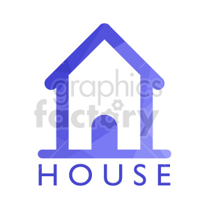 clipart - purple house outline vector icon.