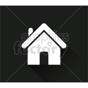 house on black vector icon clipart. Commercial use image # 416524