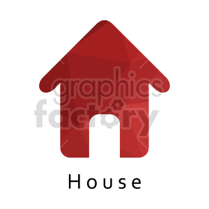 red house vector icon clipart. Commercial use image # 416528